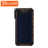 Tollcuudda Solar Power Bank 15000mah Portable Charger External Battery For Xiaomi 2 USB Poverbank With Led