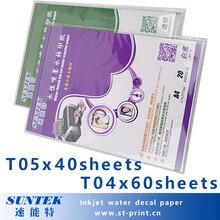 A4 Размеры струйный водной горкой передачи этикета бумаги гидрографика для ногтей наклейки темный цвет и свет цвета