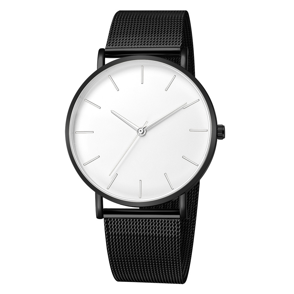 Quartz Watches Learned Geneva Mens Watch Ultra-thin Men Stainless Steel Case Synthetic Analog Quartz Sport Business Mesh Strap Watch Relogio Masculino Watches