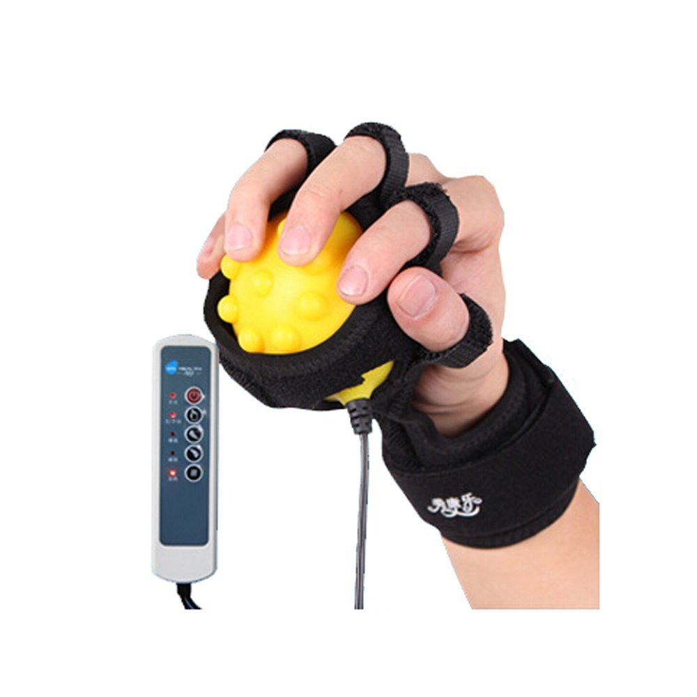Infrared Hot Compress Hand Massager Ball Massage Hand and Fingers Physiotherapy Rehabilitation Spasm Dystonia Hemiplegia Stroke excellent quality 2 rollers relax finger joints hand massager fingers massage tool random color