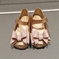 Tres Grandes Bowtie 2016 Nuevo Mini Niños Arco Zapatos de La Jalea Sandalias de Las Muchachas Niños MELISSA Melissa Sandalias Comodidad Suave de Alta Calidad