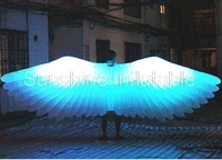 Most popular 3m big led lighted inflatable angel wings, inflatable wings costume for stage,party,event