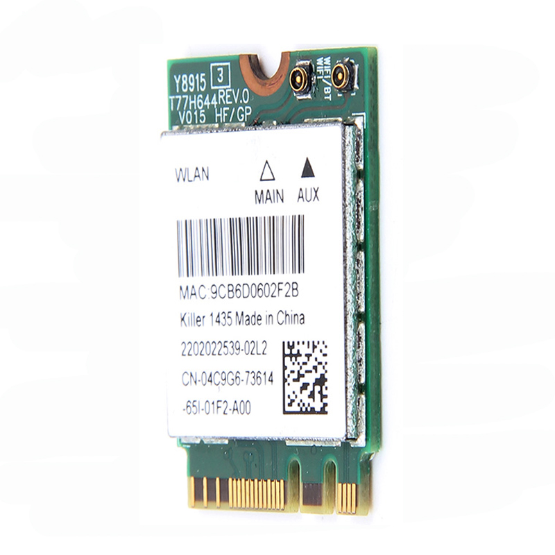 Wireless Killer 1435 Dand Band 867Mbps WiFi Network Card Atheros QCNFA344A  802 11ac Bluetooth 4 1 better than Intel 7260