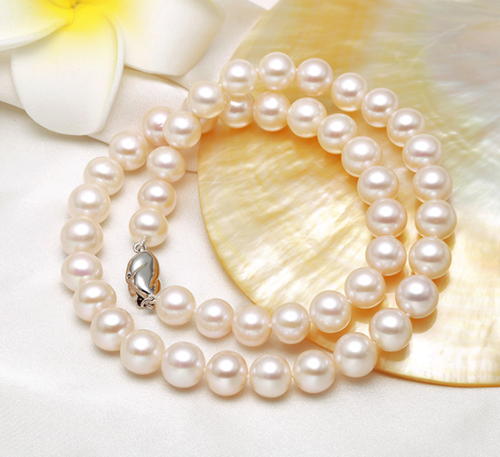 gorgeous natural 9-10mm south sea white pearl necklace 18inch Free shipping gorgeous 13 14mm south sea baroque multicolor pearl necklace 18inch