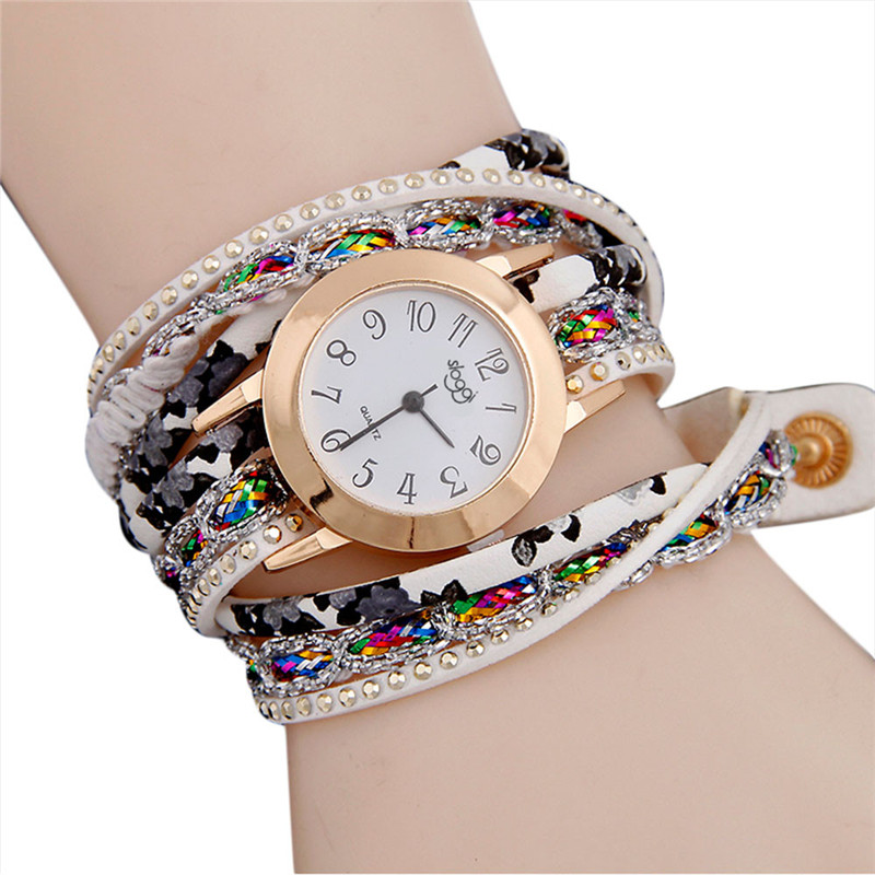 Women Fine Leather Bracelet Watches Ladies Quartz Watch Fashion Casual Women Dress Wristwatch Relogio Feminino #D цена