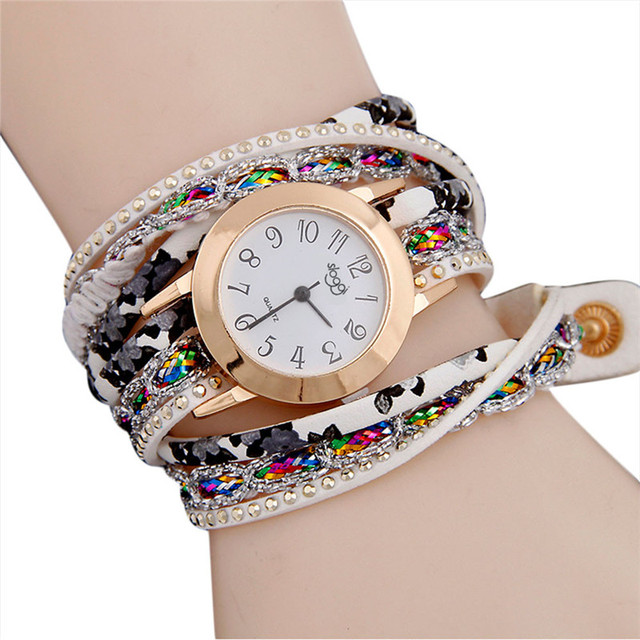 Women Fine Leather Bracelet Watches Ladies Quartz Watch Fashion Casual Women Dre