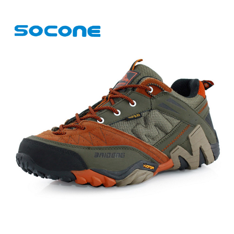 Waterproof Hiking font b Shoes b font Men Sneakers 2015 Leather Outdoor font b Shoes b