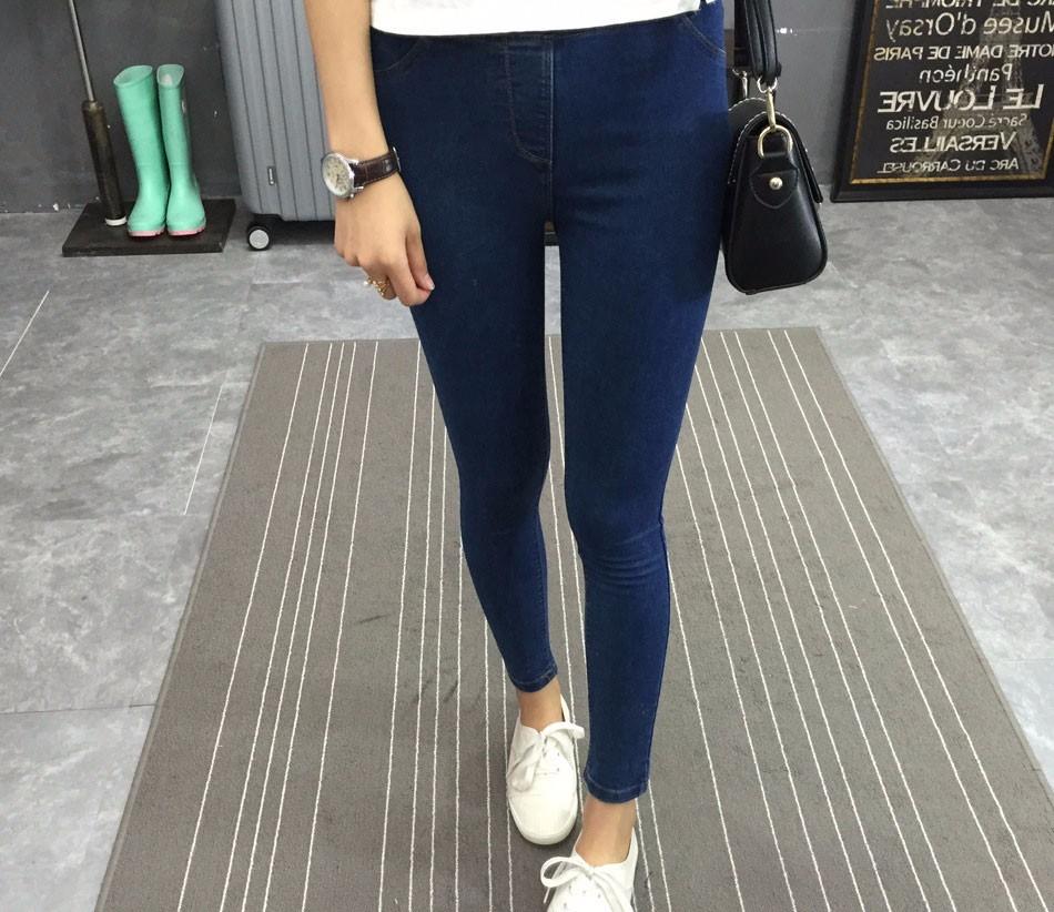 BIVIGAOS Basic Skinny Womens Jeans Ankle Pencil Pants Slim Elastic Denim Pants Jean Leggings Female Cotton Jeggings Jeans Women 30