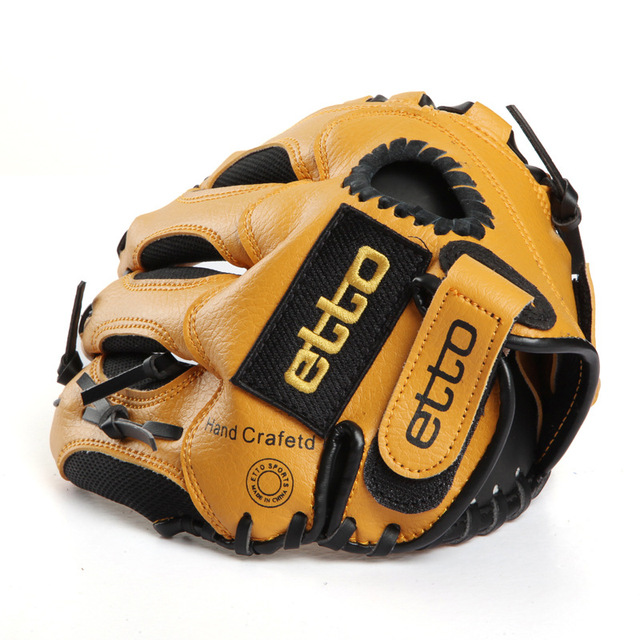 Etto Brand 10 Inches Children Baseball Gloves Left/Right Hand High Quality Professional Baseball Training Gloves For Kids 3