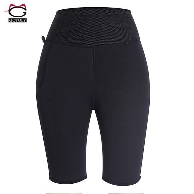 Neoprene Sweat Sauna Pants High Waist Trainer Women Control Panties Hot Body Shaper Slimming Butt Lifter Workout Fitness Shorts