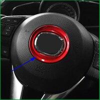 Car styling Steering Wheel Car Logo Frame Cover Trim For Mazda 3 6 M3 M6 AXELA Atenza CX 4 CX 5 2014 2015 2016 Auto Parts