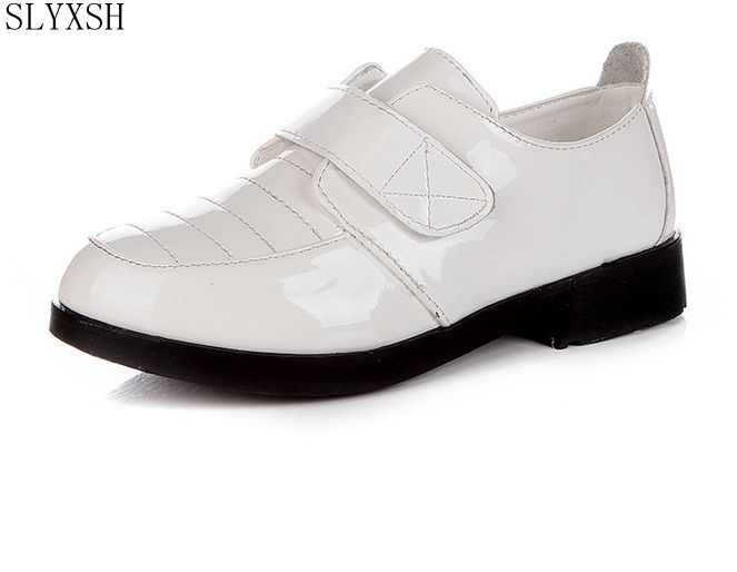 Slyxsh Boys Black White Dress Shoes Children S Fashion