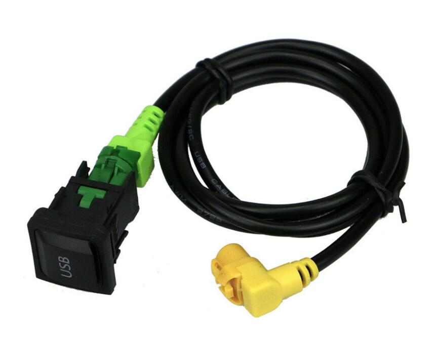 RCD510 RNS315 <font><b>USB</b></font> Cable With Switch For VW Golf MK5 MK6 VI 5 6 Jetta CC Tiguan <font><b>Passat</b></font> <font><b>B6</b></font> image