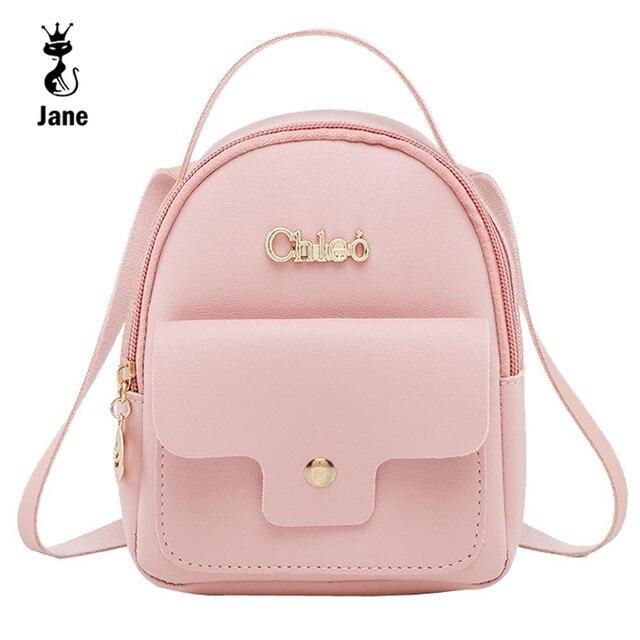 a949031b6 Mochila de couro das mulheres de mini moda mochilas escolares para  adolescentes meninas pequena bolsa de