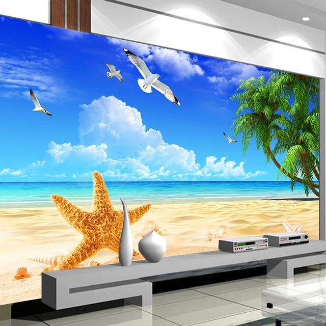 Custom 3D Photo Wallpaper Mediterranean Style Decoration Mural