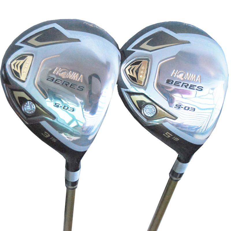 купить Cooyute New mens Golf clubs HONMA S-03 3/5 Golf fairway wood with Graphite Golf shaft wood clubs free shipping по цене 6459.76 рублей