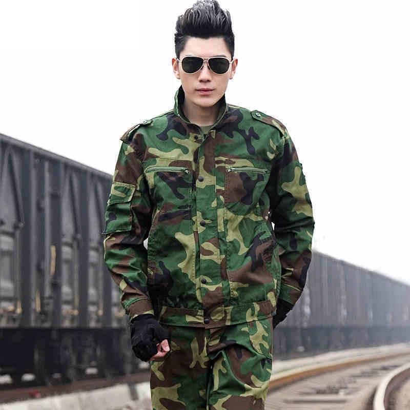 (10 Set-top & Mutanda) Outdoor Cs Camuffamento Del Vestito Degli Uomini Di Campeggio Campo La Speciale Di Combattimento Uniforme Da Combattimento Militare Dei Vestiti Di Formazione Di Fabbricazione Abile