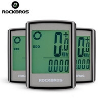 ROCKBROS Bicycle Computer Wireless Stopwatch Waterproof Backlight LCD Display Cycling Bike Computer Speedometer Odometer