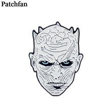 Game of thrones night king Zinc Pins men women para Shirt Charm insignia Clothes backpack Accessory medal Badges Brooches A2109(China)