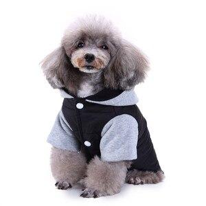 Зимняя куртка для собак и кошек, одежда для собак с капюшоном, хлопковый комбинезон, пальто для щенков, одежда для собак, костюм для животных, унисекс # M