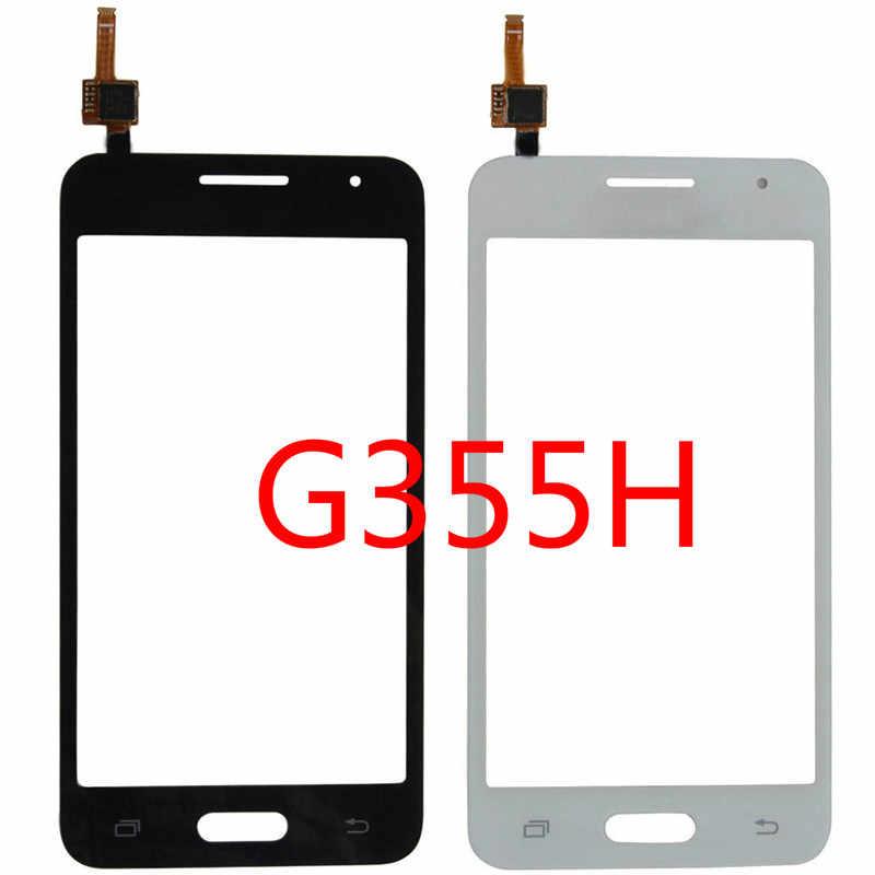 4.5 ''شاشة إل سي دي باللمس شاشة لسامسونج غالاكسي كور II 2 Duos G355H SM-G355H G355 اللمس جبهة لوحة زجاج عدسة محول الأرقام جزء