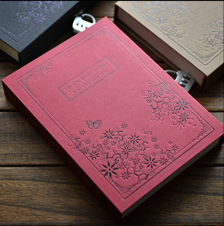 Lock password Diary Books Notebook Vintage Creative Pu Leather Travel Journal Women/Men Personal Sketchbook obn012 vintage handmade leather diary notebook sketchbook travel journal blank writing paper note books gifts school office stationery