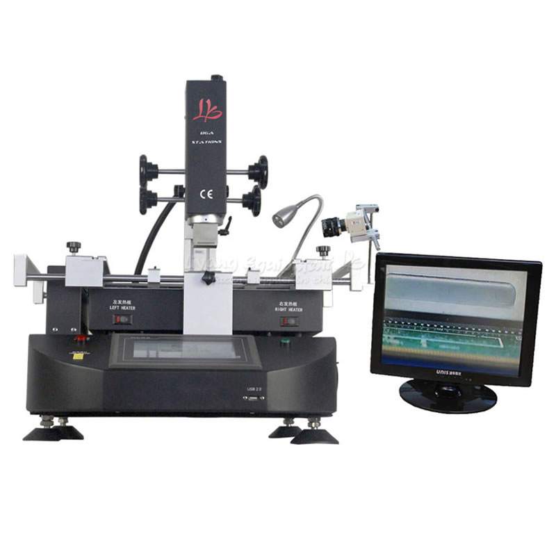 LY R5830C 4500W BGA Reballing Station Hot Air SMD Soldering Machine for Laptop Motherboard Chip Rework Repair bga rework machine ly 5830c hot air 3 zones for laptop motherboard chip repair 4500w zm r5830