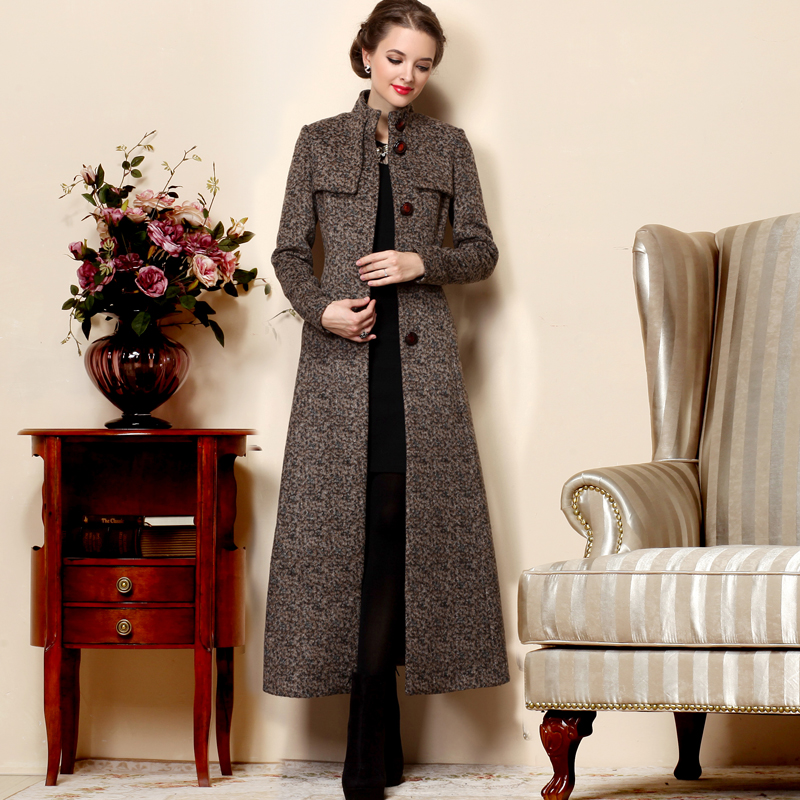 5b3d72b8d0b Fashion British Style Long Wool Coat 2018 New Arrival Winter Coat Women  Stand collar Single Breasted Large Sizes Overcoat Female-in Wool   Blends  from ...