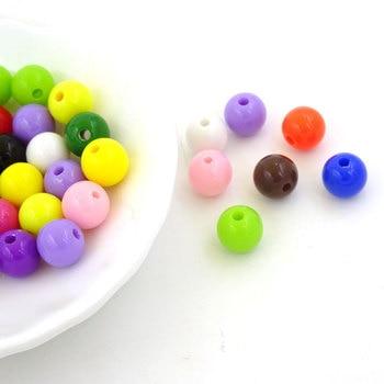 8mm mezcla de Color, redondo Beads Sieraden Maken acrílico cuentas Para manualidades...