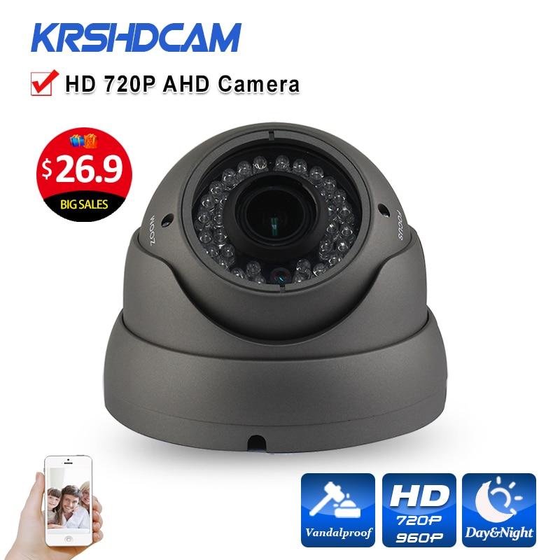 imágenes para Al aire libre Cámara de Seguridad CCTV lente Varifocal cámara Domo AHD 1.0MP 720 P 2000TVL Visión Nocturna IR-CUT 36IR cámaras de segurança