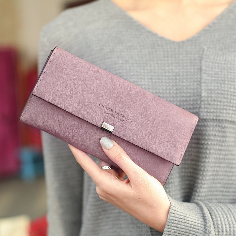 High Quality Women Long Wallets Letter Standard Hasp Money Purse Fashion Style Card Holder Synthetic Leather Clutch Bag Female 8