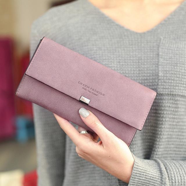 Fashion Casual Wear-Resistant Leather Women's Wallet