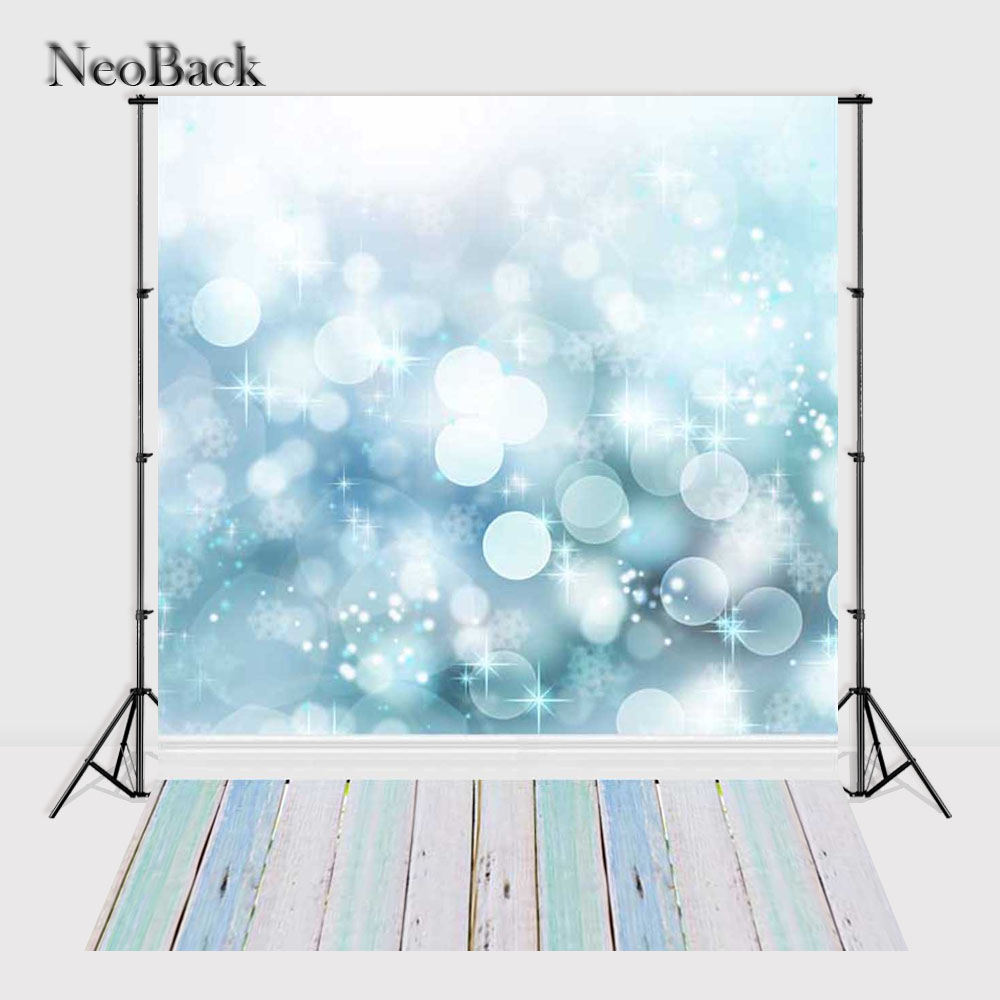 NeoBack Vinyl Cloth Photography Backdrop Blue Bokeh Bubble Printed Children Studio Photo background Birthday Backdrop 90 x 150cm