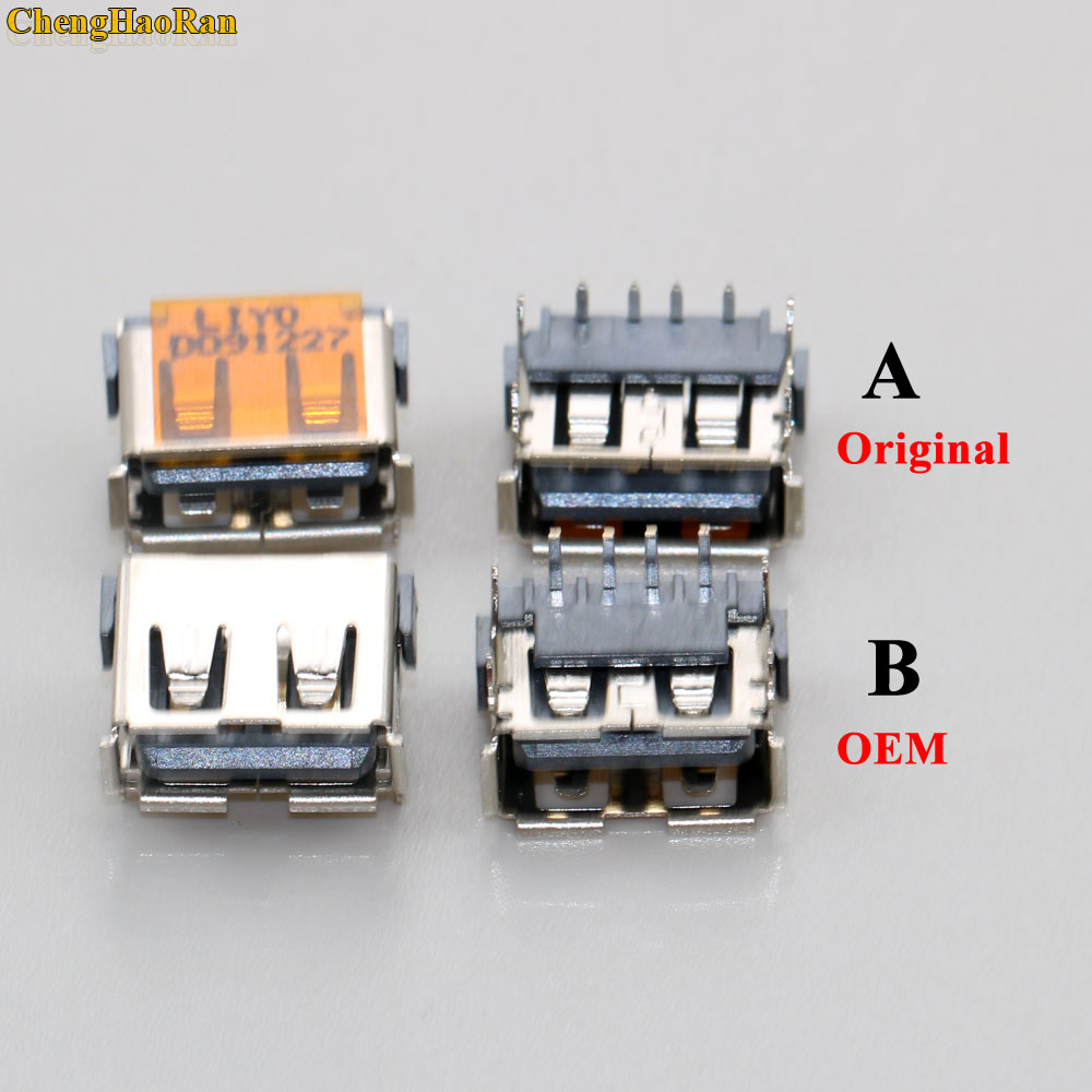 ChengHaoRan 1x Original new 2.0 USB Jack USB Connector USB 2.0 data port 4 for Laptop