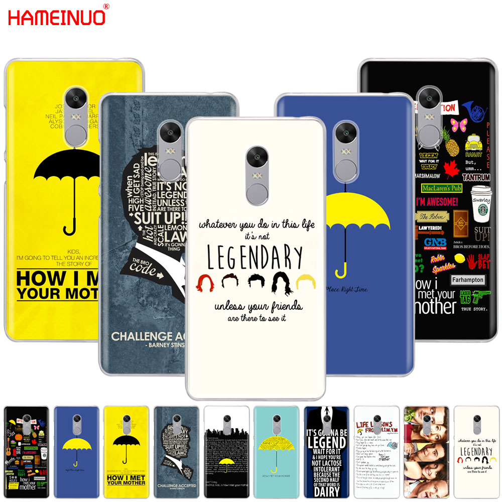 HAMEINUO how i met your mother himym quotes Cover phone Case for Xiaomi redmi 5 4 1 1s 2 3 3s pro PLUS redmi note 4 4X 4A 5A