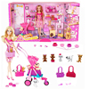 Barbie Authorize Brand Shopping Girl And Pet Dog Barbie Dolls Set For Little Girl Christmas Day