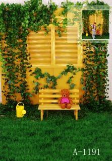 Free Shipping Beautiful Garden Digital Kids Studio Photography Background  Backdrop 5x10ft ,baby Children Fabric Backdrop