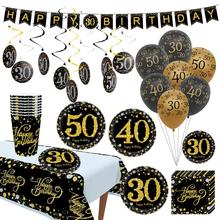 FENGRISE 30th 40th 50th 60th Birthday Decoration Adult Black Golden Number Balloon Decor 30 Years Old Party Happy Anniversary