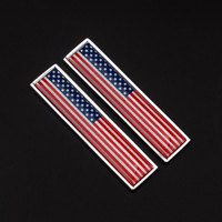 2pcs Set American USA Flag Sticker Emblem Badge Decor For Car Auto Truck Side Fender Fit