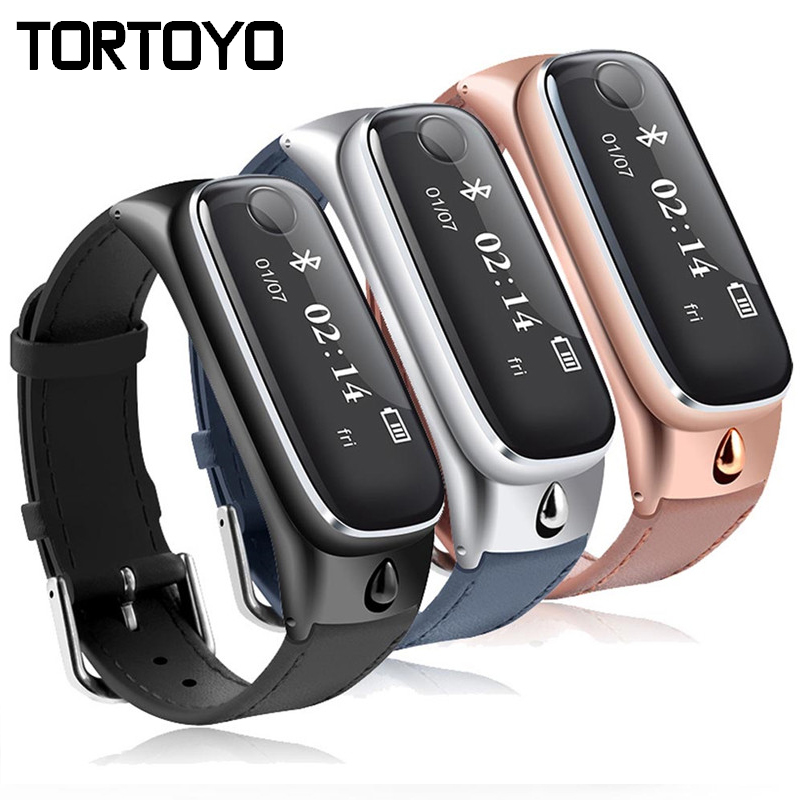 New M6 Fashion Bluetooth Smart Bracelet Sports Smartband Leather Wristband Sleep Monitor Call Reminder Earphone for