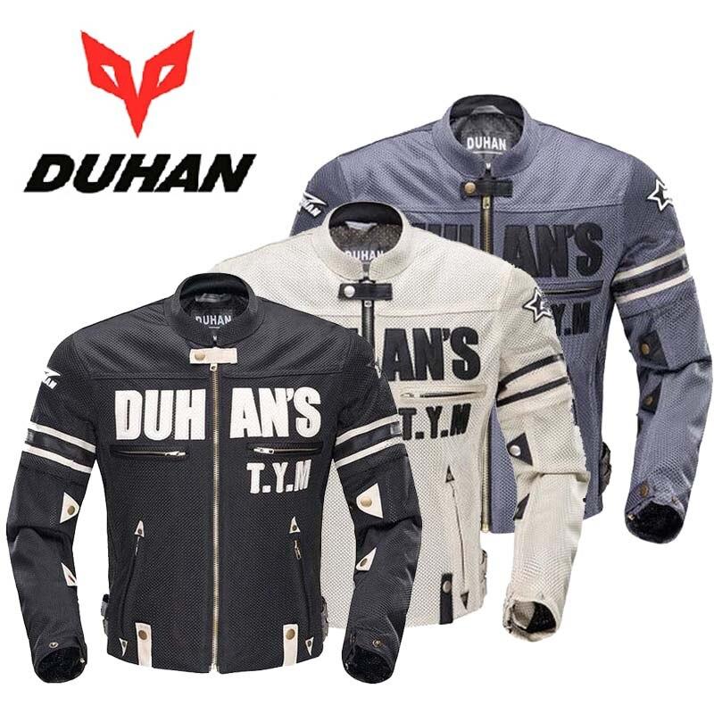 2017 été nouveau DUHAN moto veste de costume de course moto rcycle tour vestes respirant maille matériel Double manches peut détachable