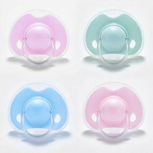 Chupeta de silicone do bebê de alta qualidade bebê recém-nascido infantil meninos meninas manequim mamilos plana cabeça redonda chupeta
