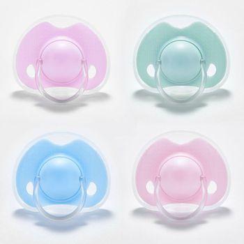 Wysokiej jakości smoczek silikonowy dla niemowląt noworodek dla niemowląt chłopcy dziewczęta smoczki smoczki płaskie okrągłe głowy smoczek tanie i dobre opinie OOTDTY Liquid silicone CN (pochodzenie) 4 miesięcy Stałe Baby Pacifier 1 Pc Pojedyncze załadowany BPA za darmo