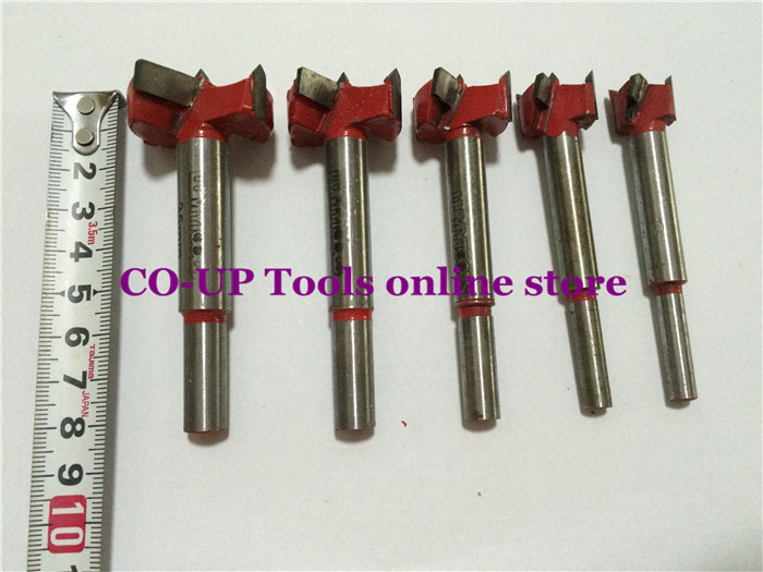 Professional Forstner Drill Bits 5pcs/set 15/20/25/30/35mm Hole Saw Woodworking Power Tools surprise price 22mm cobalt alloys forstner drill bits set for sale
