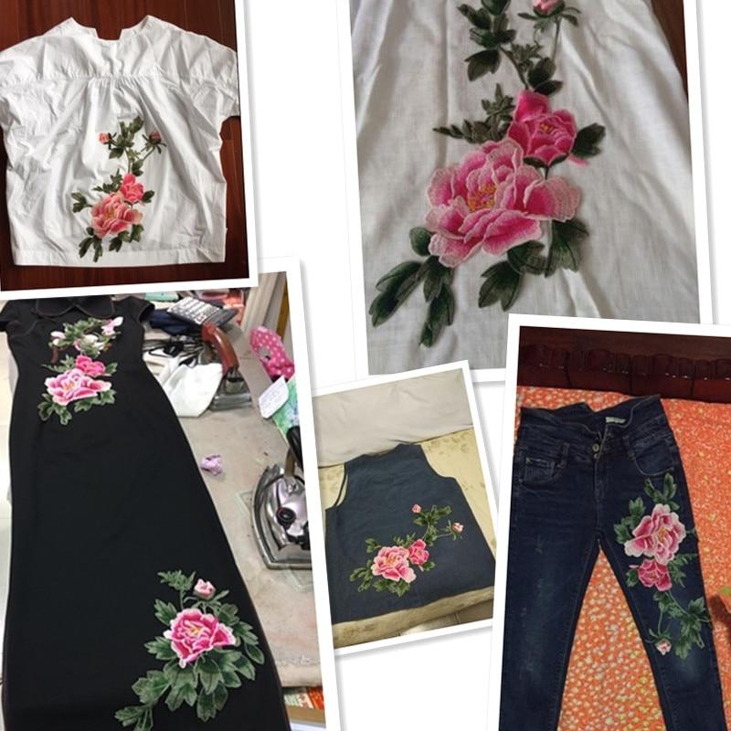 AHYONNIEX markë e qepur në Peony Flower Patches Lule Decal Sticker - Arte, zanate dhe qepje - Foto 6