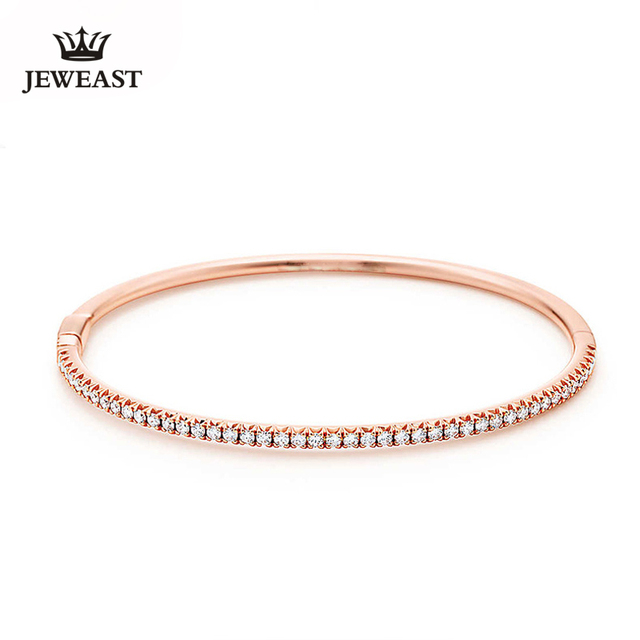 White Diamond Bracelet 18K Rose Gold Diamond Bracelet Bracelet Royal Lady