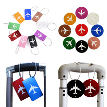 Luggage amp bags Travel Accessories 2019 Fashion Cute Novelty Rubber Funky Aluminium Label Straps Suitcase Luggage Tag Drop Shipping cheap Metallic Solid Luggage Tags BP131 7 5cm 4 5cm 0 01kg 0 02inch ZISIZ please allow ±1- 2cm error