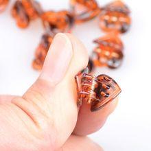 48Pcs Acrylic Heart Hair Claw Alligator Clips Resin Barrettes Women Jewelry