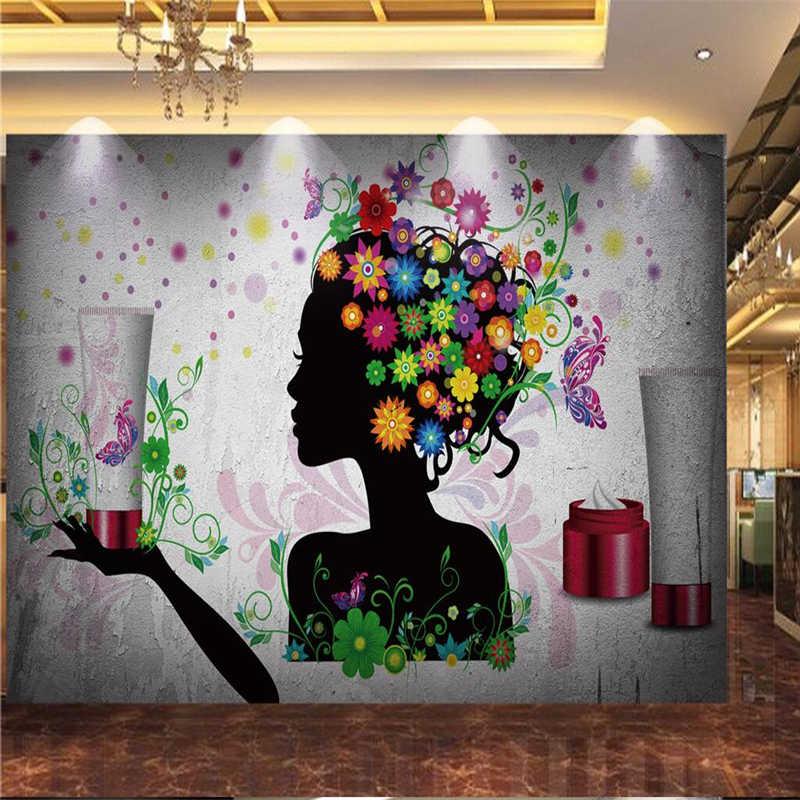 Фотообои на заказ, любой размер, 3D-обои для гостиной, винтажный Ностальгический салон красоты, косметическая оснастка, обои на стену
