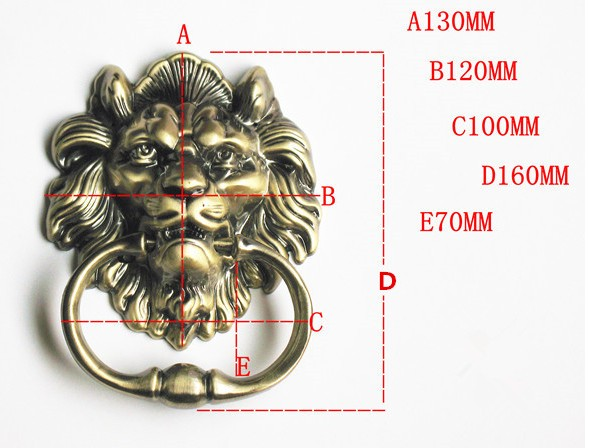 Image 5 - 1pcs Door Knocker  Lions Furniture handle Home Decor wooden door knocker  Furniture handle-in Cabinet Pulls from Home Improvement